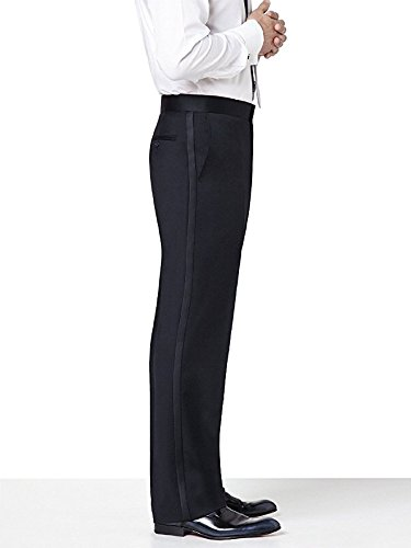 Neil Allyn Men's Plain Front Tuxedo Trouser 3037P-36x32 Black by Neil Allyn