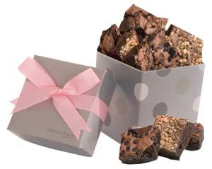 Geoff & Drew's Silver Pink Box of 8 Fresh Baked Brownies