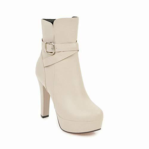 36 Pulir Cálidas Para Mujer Antideslizantes Y Invierno Mujer Xdx 43 De Tacón zapatos Talla Grueso Calzado Botas Grueso FRT1Zn4