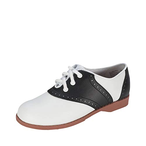 SmartFit Girl's Black/White Saddle Oxford 10.5 M US ()