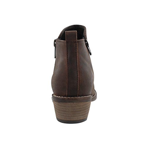 Maddison Womens Darcy Side Zip Bootie Brown BXp9bVzN6m