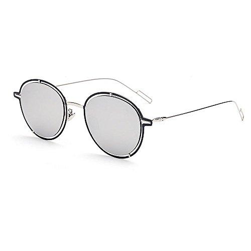 air pour la par plates la Couleur protection métal de de lunettes usage miroir Convient pour couleur Les UV Lentilles un conduite quotidien en UV voyageant plage de en bordée plein Argent soleil Noir Udx6cH