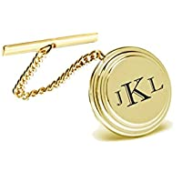 Personalized Gold Beveled Tie Pin Engraved Free