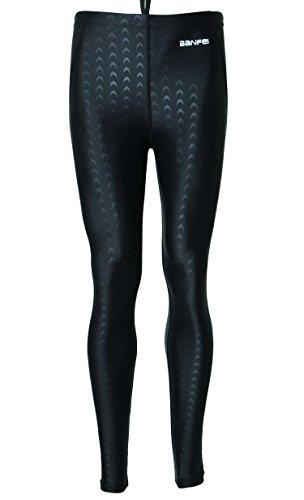 Mens Diving Leggings UV 50+ Sun Protection Basic Dive Skin Pants Beach Water Game Swimming Suit - XL - Black (black - Swimming Suits Skin