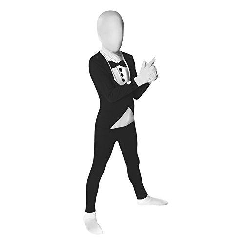 "Tuxedo Kids Morphsuit Fancy Dress Costume - size Medium 3""7-"
