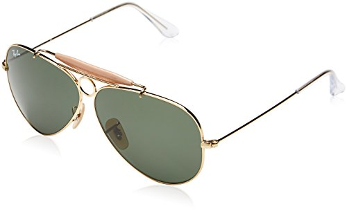 Ray-Ban Men's Shooter Aviator Sunglasses, Arista, 62 - Rb Rayban Out