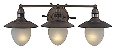 Vaxcel VL25503RC Orleans 3 Light Vanity Light, Antique Red Copper Finish