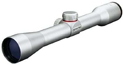 Simmons .22 Mag TruPlex Reticle Rimfire Riflescope with Rings, 4x32mm (Silver) from Simmons