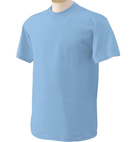 Maglietta Blue light Cotton GildanHeavy Us Large Corta Uomo Manica Yvmb6y7gfI