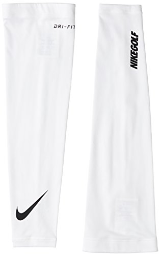 Nike Unisex Dri-Fit Solar Arm Sleeve (White/Black, Medium/Large) ()