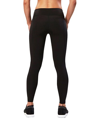 2XU Women's Active Compression Tights, Black/Silver, Medium Tall by 2XU (Image #2)