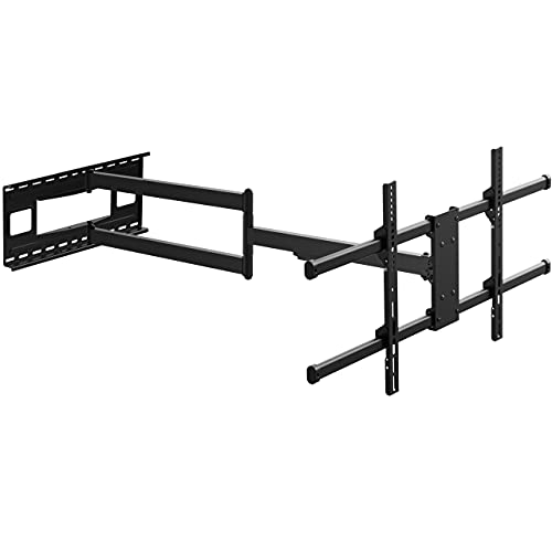 Long Arm TV Wall Bracket Mount with 40-inch Extension, PUTORSEN Full Motion TV Wall Mount Fits Most 43-80 inch Flat&Curved LED Screens, Swivel Tilt Arm with Max VESA 800x400mm, Holds up to 110lbs