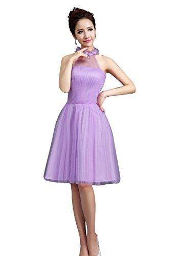 Beauty-Emily spezielles Desgin Sexy Knee Spitze Brautjungfernkleider fairily Abschlussball-Kleid Farbe Lila, Größe Benutzerdefinierte Style F