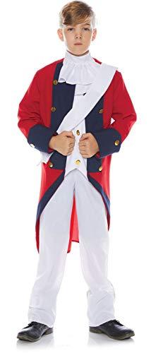 Underwraps Little Boy's Little Boy's Redcoat Soldier Costume Set Childrens Costume, Multi, Large