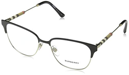 Burberry Women's BE1313Q Eyeglasses Black/Light Gold 53mm (Frames 53mm Optical Burberry)