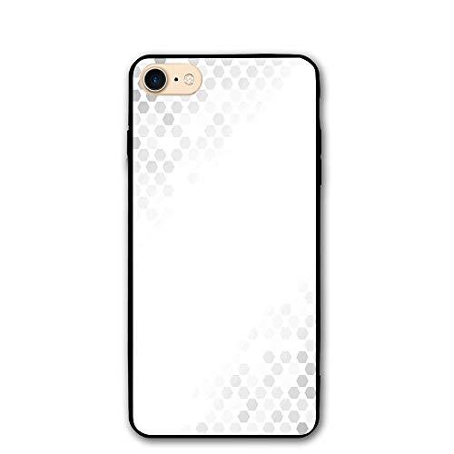 - Haixia IPhone 7/8 Case 4.7 Inch Grey Decor Abstract Beam Geometric Six Cornered Mosaic Style Futuristic Artsy Illustration White