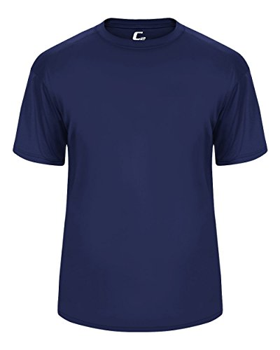 - Navy Blue Adult XL Short Sleeve Performance Wicking Athletic Sports Shirt/Undershirt/Jersey