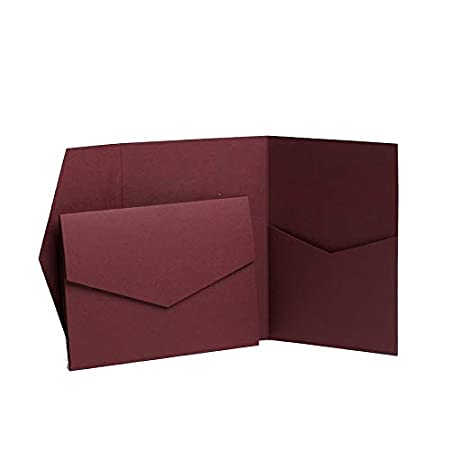 Bordeaux opaco Pocketfold inviti 130mmx185mm rosso Pocketfold Invites