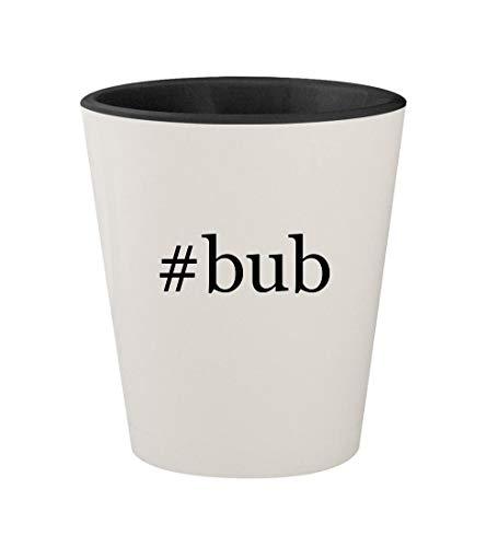 #bub - Ceramic Hashtag White Outer & Black Inner 1.5oz Shot Glass