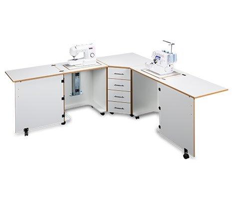 Sylvia Design Model 1350 Sewing Center (White w/Oak Trim)