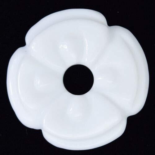 45mm White Jade Carved Donut Pendant Gemstone nbLG-98