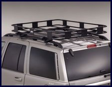 Black For Select Roof Racks 50 x 50 x 5 Surco S5050 Safari Roof Rack Basket