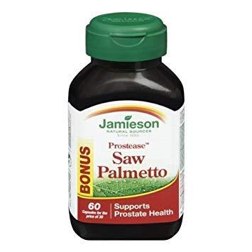 Jamieson ProsteaseTM Saw Palmetto, Bonus Size, 30+30 Softgels - Supports Prostate Health