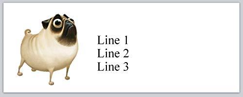 150 Personalized Address Labels Cute Dog Cartoon Pug (p 812)