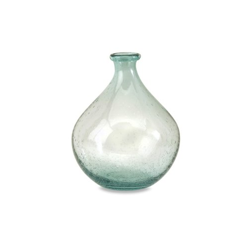 (IMAX 63024 Amadour Bubble Glass Bottle - Small Sized Glass Jar, Decorative Vase for Dining Hall, Living Room, Hotels. Decorative Accessories)