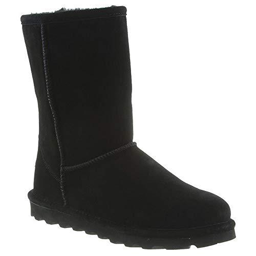 BEARPAW Women's Elle Short Winter Boots, Black, Size 9 Wide US ()