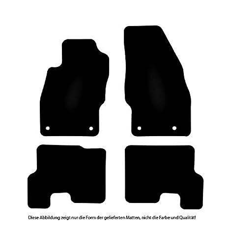 Erh/öhter Rand B/är-AfC FO09666 Gummimatten Auto Fu/ßmatten Schwarz Set 4-teilig Passgenau f/ür Modell Siehe Details