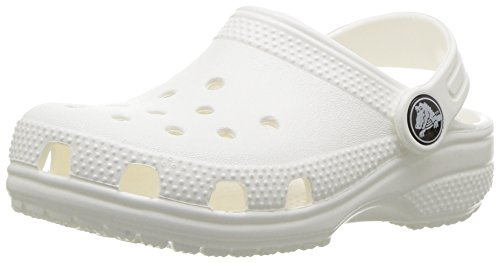 (Crocs Kids' Classic Clog, White, 8 M US Toddler)
