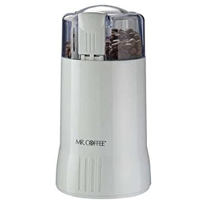 Coffee Grinder, Electric, White, 12 Cups by MR. COFFEE