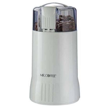 Coffee Grinder, Electric, White, 12 Cups