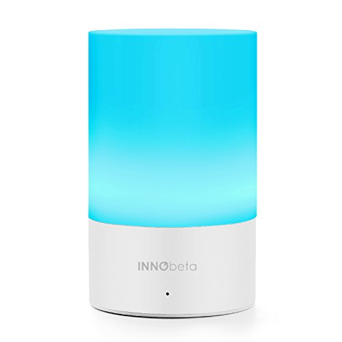 InnoBeta Meteor Rechargeable Portable LED Color Changing Mood Light with Travel Bag, Bedside Lamp with Dimmable Warm White Light + 256 RGB Lights, Outdoor Camping Lantern, Table Lamp, Baby Nightlight