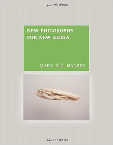 New Philosophy for New Media by Mark B N Hansen (2004-02-03)