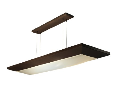 Lighting by AFX AEL232RBMV-CK Aeon 16-Inch Multi-Volt Suspended Light with Hanging Cable Kit, Oil-Rubbed Bronze with White Linen Diffuser (Ceiling American White Lighting Fluorescent)