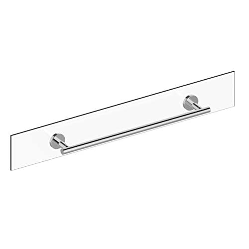 durable service Preferred Bath Accessories PC3024GM Manor Collection Glass Mounted Towel Bar, 24-Inch, Polished Chrome