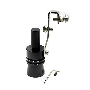 Turbo Sound silbido / Turbo silbido de la tubería de escape del tubo de escape válvula de escape Simulador de aluminio: Amazon.es: Coche y moto