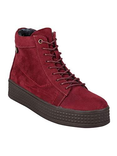 Bordo Alte Sneakers Con Tessuto Donna Platform rBXXwHx