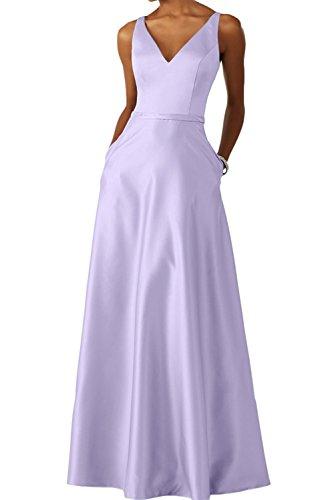 Lang Abschlussballkleider Damen Ballkleider Abendkleider Langes Salbei Brautjungfernkleider Promkleider Satin Lilac Braut La mia PnqaHv