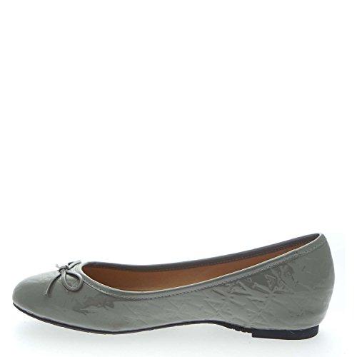 Armani Jeans U5586 Ballerina Schuhe Frau Grau