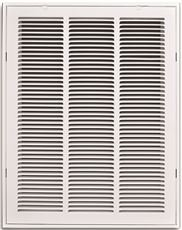 TRUAIRE STAMPED RETURN AIR FILTER GRILLE, REMOVABLE FACE, 16 IN. X 25 IN., WHITE (Face Grille)