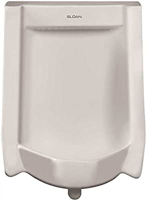 Sloan SU-1009-A Efficiency Dual Flush 0.125 to 0.5 GPF Urinal with Top Spud Place, White