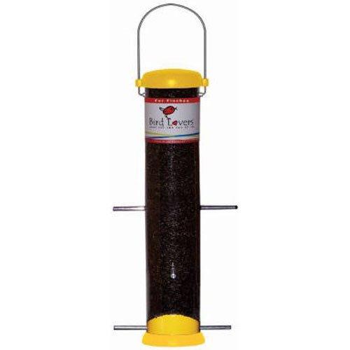 (Droll Yankees Bird Feeder, Nyjer Seed Finch Feeder, Bird Lovers, 15-inch, 6 Ports, Yellow, BL15YF)