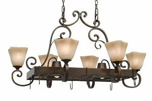 Meridian Pendant Lamp (Golden Lighting 3890-PR62 GB Meridian Eight Light Pot Rack, Golden Bronze Finish)
