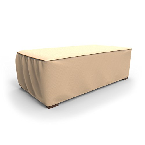 Budge Chelsea Patio Ottoman Cover Coffee Table Cover Large Tan 0018397195360 Buy New