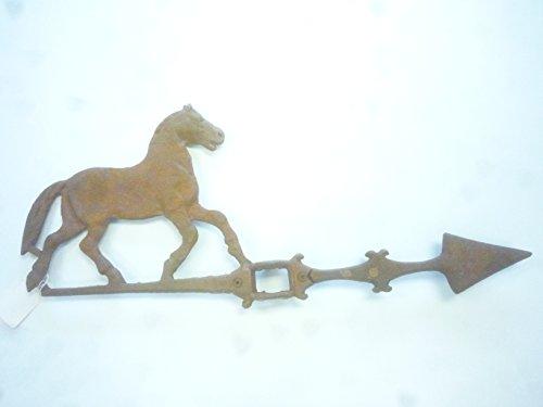 NEW OLD STYLE 3# FARM CAST IRON HORSE LIGHTNING ROD WEATHER VANE
