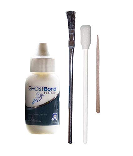 Ghost Bond PLATINUM 1.3 oz Adhesive with Beauty 1st Brush and Contour Applicator Combo Bundle ()