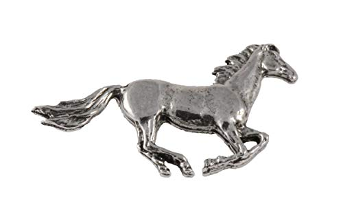 Horse Galloping Mammal Pewter Lapel Pin, Brooch, Jewelry, M132